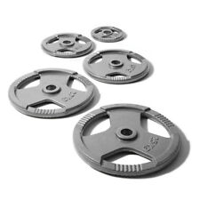 "1"" TRI-GRIP Cast Iron Disc Weights Plate Curl Barbell Weight Fitness Gym 15KG"