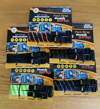 MOTORCYCLE ADJUSTABLE LUGGAGE STRAPS ROK STRAPS STRAP CORD HI QUALITY 2 SET  42""