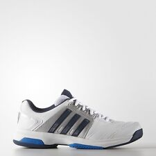 Adidas Mens Barricade Approach STR White Silver Navy Tennis Shoes DS AF6205
