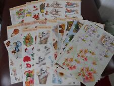 20 SHEETS OF ASSORTED DECOUPAGE