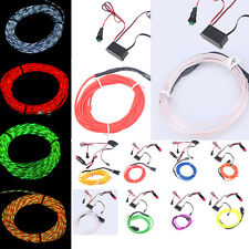 3 Modes Flexible Neon Car Chasing EL Wire Light Lamp Flow Strip w/ 12V Inverter