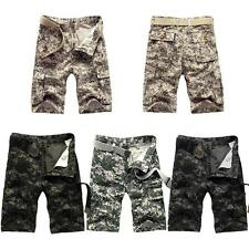 Mens Cargo Shorts Short Trousers Army Combat Camo Work Pants Sports Summer O4Z0