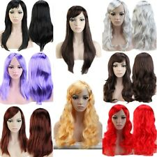 Super Hot Cosplay Wig Party Hair Long Straight Curly Full Wigs Fancy Dress Women