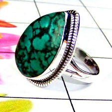 925 SOLID STERLING SILVER HANDMADE TIBET TURQUOISE NEW RING SIZE 3 -12.5 KK956-C