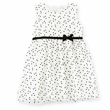 Carters Baby Girls Flocked Polka Dot & Tulle Dress 9 24Months Clothes