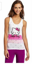 Hello Kitty Juniors Burnout Knit Racerback Sleep Tank White/Pink Color SML MED
