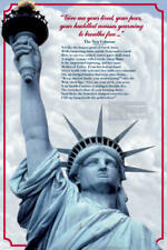 Lady Liberty Laminated Educational History Teacher Class Chart Poster 24x36