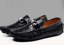 Fashion Mens Slip On Loafers snake skin leather Driving casual dress shoes