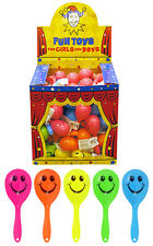 Mini Smiley Maracas Children's Party Bag Fillers Rattle Shaking Baby Kids Toys