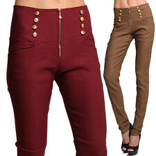 MOGAN Elastic HIGH WAISTED SKINNY PANTS Office & Night Stretch Slim Fit Trousers