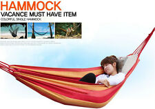 Top Portable Cotton Rope Outdoor Camping Swing Hanging Fabric Hammock Canvas Bed