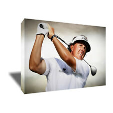 PGA Golf Icon PHIL MICKELSON Swing Portrait poster photo CANVAS ART Painting