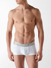 Calvin Klein CK men white Steel cotton stretch low rise trunk underwear M