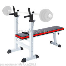 New Shoulder Chest Press Weight Bench Sit Up Barbell Workout Fitness Home Gym