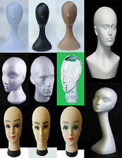 MANNEQUIN TORSO DUMMY MODEL DISPLAY HEADS FOR HATS SCARFS CAPS HEADPHONES & WIGS