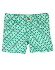 GYMBOREE THE GREEN SCENE CLOVER PRINT SHORTS 4 5 6 NWT GIRLS