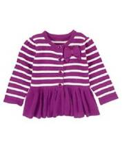 GYMBOREE PURRFECTLY FABULOUS PURPLE BOW STRIPE CARDIGAN SWEATER 2T 3T 4T 5T NWT