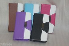TPU Leather wallet case Cover with strap & card slot For Apple Iphone 5 5s 5c SE