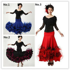 New Latin salsa Cha cha flamenco Ballroom Dance Dress Modern tango Waltz Skirt