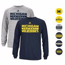 MICHIGAN WOLVERINES ADIDAS CLIMALITE PERFORMANCE LONGSLEEVE SHIRT MEN'S