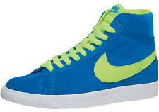 NIKE BLAZER MID VINTAGE GS GIRLS / BOYS TRAINERS HI TOPS BLUE SUEDE SIZE 5 OR 6