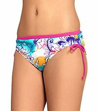 NWT Speedo Sunrise Hibiscus Adjustable Side Tie bikini bottom Swim Suit  M or XS