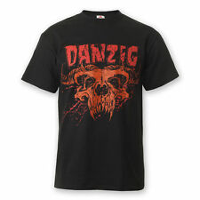 Danzig Demi Skull T-Shirt Red Skull Hard Rock Punk Metal Punk Emo Glen Gothic