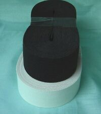 """Knit Knitted Elastic Size : 2-1/2 """" (2.5 inch ) Black / White ( New ) (soft)"""