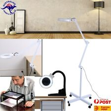 Magnifying Lamp Glass Lens Round Head LED BEAUTY Magnifier Desk Clip/Floor Stand