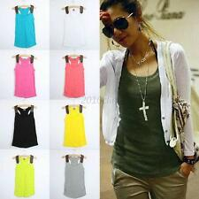 Fashion Women Vest Top Sleeveless Slim Fit Shirt Blouse Casual Tank Tops T-Shirt
