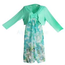 Womens Plus Size Dress Floral Strappy Long Dresses Summer Casual Long Sleeve Top