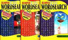 Word search Books - 3 Book set - Over 300 Puzzles - New  (Set 16)