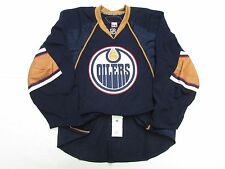 EDMONTON OILERS AUTHENTIC NAVY TEAM ISSUED REEBOK EDGE 2.0 7287 HOCKEY JERSEY