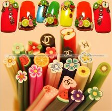 50 DIY 3D Nail Art Fimo Canes Stick Rod Polymer Clay Sticker Tips Decoration S8