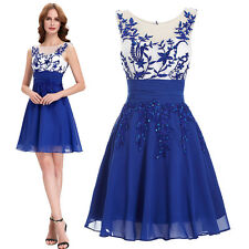 Short Girl Bridesmaid Formal Gown Ball Wedding Cocktail Evening Prom Party Dress