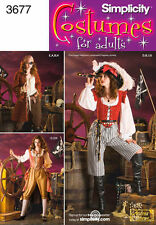 Simplicity Pattern 3677 Misses Pirate Costumes New Uncut