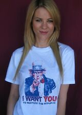 I Want You to Restore the Republic Uncle Sam T Shirt  - All Sizes Small - 4X