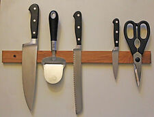 Magnetic Knife Rack, Cherry, Wall Mounted or Refrigerator