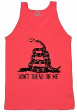 Don't Tread on Me NEON PINK Tank Top T Shirt Tea Party American Apparel USA