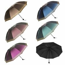 Lady Sun Umbrella Rain Windproof Compact Heavy Duty Compact Travel Folding