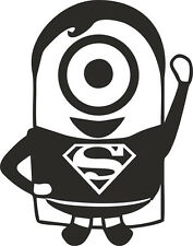 Superman Minion Superhero Vinyl decal sticker Laptop Car Window Wall