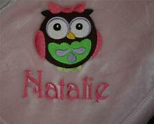 Personalized Monogrammed Baby Blanket Made from Extra Soft Fleece- Girl or Boy