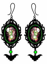 Too Fast Ms. Troxins Earrings Zombie PinUp Rockabilly Goth Punk Scene Tattoo Emo