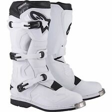 ALPINESTARS TECH 1 MOTOCROSS ATV DIRTBIKE MX BOOTS WHITE MENS SIZE