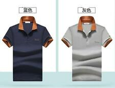 New Summer Men's Cotton Casual sports Polo Shirts Short sleeve T-shirt