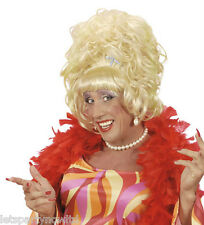 DRAG QUEEN LILY SAVAGE  BEEHIVE  BLONDE / WHITE CARNIVAL  FANCY DRESS  WIG