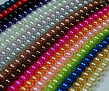 Glass Pearl Round Spacer Loose Beads 4mm/6mm/8mm/10mm For Jewellery making