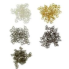 50pcs Solid Spring Ring Clasp With Open Jump Jewelry Making Finding DIY