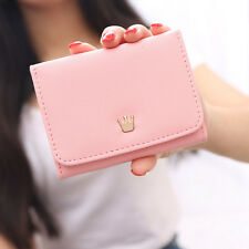 Crown Women Wallet Solid Hasp Card Holder Clutch Short Large Capacity Coin Purse
