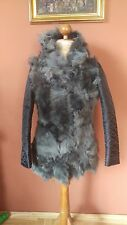 Ladies VEROO dark grey Real Toscana Sheepskin Leather winter Jacket, Coat